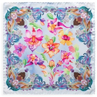 Eton Floral Silk Pocket Square