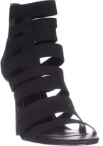 Charles David Charles Rider Black Elastic Sandals, Black, 9 US