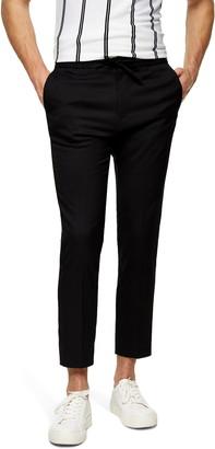 Topman Slim Fit Crop Drawstring Pants
