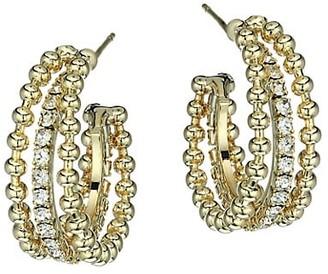 Fallon Monarch Firenze Goldplated & Cubic Zirconia Triple Hoop Earrings