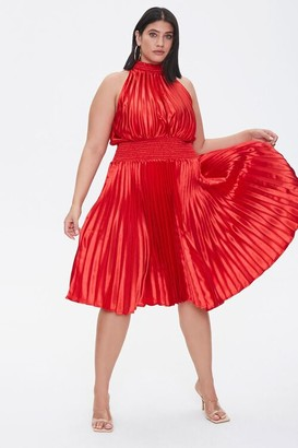 Forever 21 Plus Size Pleated Satin Dress