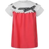 Fendi FendiBaby Girls Pink Threaded Ribbon Dress
