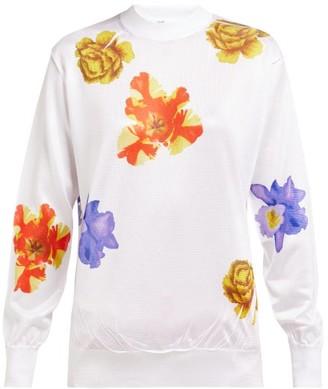 Toga Floral-print High-neck Blouse - Womens - White Print