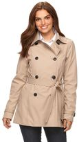 Chaps Women's Double-Breasted Trench Coat