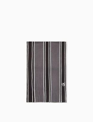 Band Stripe Raschel Knit Scarf