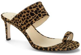 Jessica Simpson Lissah Leopard Print Genuine Calf Hair Sandal