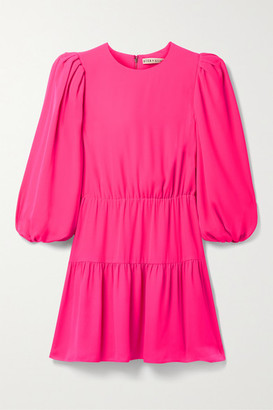 Alice + Olivia Shayla Tiered Crepe Mini Dress - Bright pink