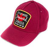 DSQUARED2 logo patch cap - men - Cotton - One Size