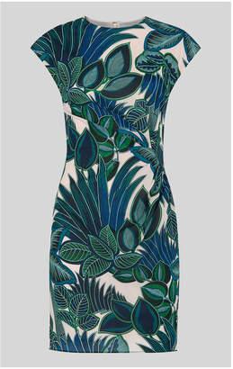 Whistles Palm Print Silk Bodycon