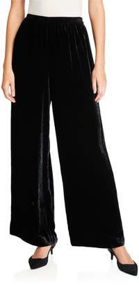 eskandar Velvet Flared-Leg Trousers