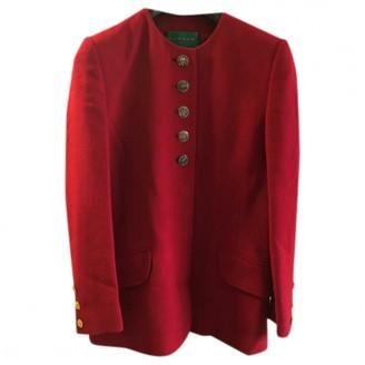 Carven Red Wool Jacket for Women Vintage