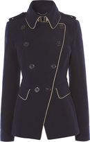 Karen Millen Navy Reefer Coat - Navy