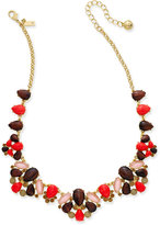 Kate Spade Burst Into Bloom Gold-Tone Beaded Collar Necklace