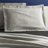 CB2 Set Of 2 Weekendr Graphite Chambray Standard Shams