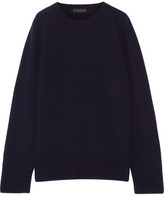 The Row Sibel Wool And Cashmere-blend Sweater - Midnight blue