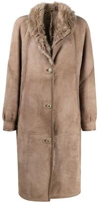A.N.G.E.L.O. Vintage Cult 1980s Knee-Length Buttoned Sheepskin Coat
