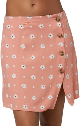 O'Neill Libby Floral Button Front Skirt