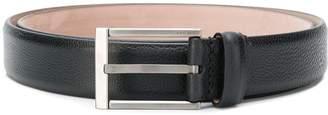 Lanvin engraved logo buckle belt