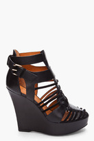 Givenchy Black Corinne Strap Wedges