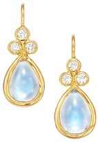 Temple St. Clair Royal Blue Moonstone, Diamond & 18K Yellow Gold Teardrop Earrings