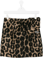 No21 Kids leopard print skirt