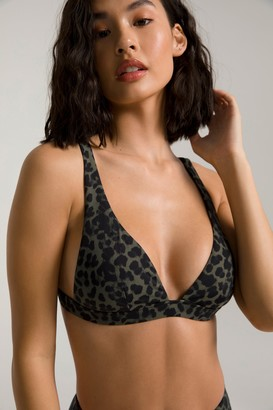 Good American Sexy Boost Bikini Top | Sage Leopard005