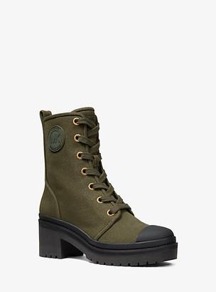Michael Kors Corey Canvas Combat Boot