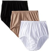 Olga Women's 3 Pack Without A Stitch Brief Panty
