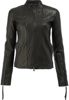 Ilaria Nistri zip detail leather jacket - women - Linen/Flax/Lamb Skin/Cupro - 44