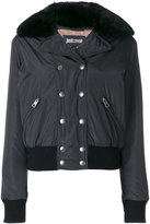 Just Cavalli classic fitted jacket - women - Acrylic/Polyester/Spandex/Elastane/Rabbit Felt - 38