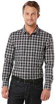 Perry Ellis Long-Sleeve Plaid Woven Shirt