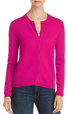 C by Bloomingdale's Crewneck Cashmere Cardigan - 100% Exclusive