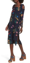 Soprano Women's Print Off The Shoulder Midi Dress
