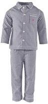 Petit Bateau Navy And White Gingham Pyjamas