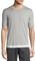 Theory Tevez New Sovereign Short-Sleeve Wool Sweater, Gray