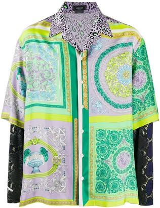 Versace Mix-Print Longsleeved Shirt