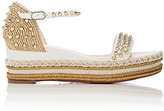 Christian Louboutin Women's Madmonica Leather Wedge Espadrille Sandals