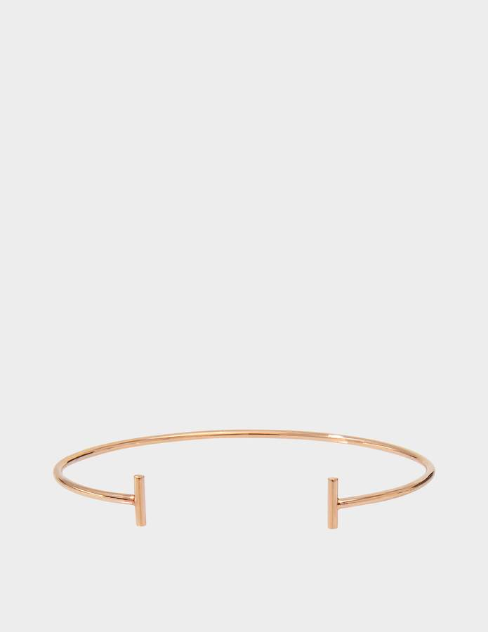 ginette_ny Gold Strip 18-karat rose gold bangle
