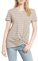Stateside Women's Stripe Twist Front Tee