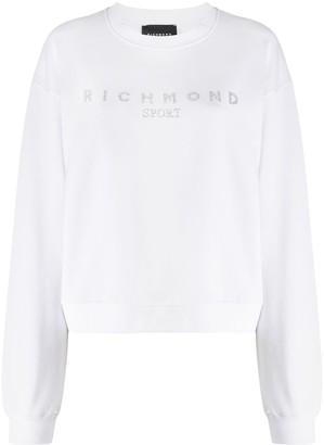 John Richmond Rhinestone Logo Sweatshirt