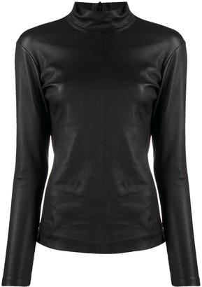 IRO High-Neck Leather Top