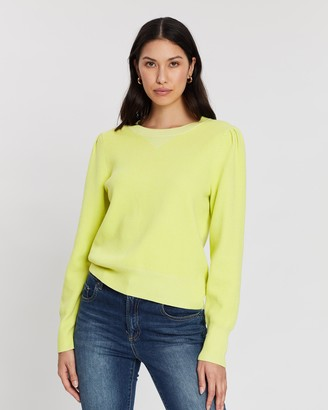 Banana Republic Puff Sleeve Sweater Top