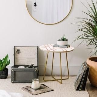 Deny Designs Elisabeth Fredriksson Art Deco Rose Gold Round Side Table