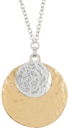 Gurhan Lush Necklace Hammered Double Disc Pendant