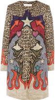 Mary Katrantzou Printed metallic matelassé coat