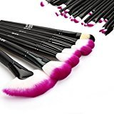 DRQ Professional Makeup Brush Set| Pro Cosmetic-32pc Studio Pro Makeup Make Up Cosmetic Brush Set Kit w/ Leather Case - For Eye Shadow, Blush, Concealer, Etc. (Purple)
