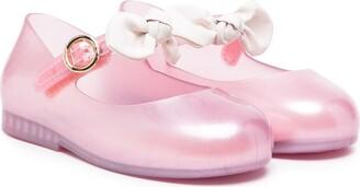 Mini Melissa Sweet Love Princess Bow ballerina shoes