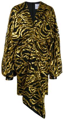 Halpern Printed Dress