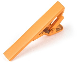 Matte Color Orange Sherbet Tie Bar