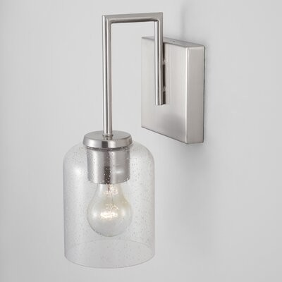 Highland Dunes Tennison 1 Light Dimmable Armed Sconce Finish Brushed Nickel Shopstyle